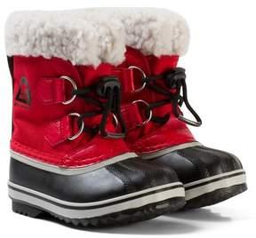 Sorel Rocket Red Childrens Yoot Pac Nylon Boots