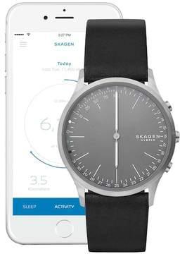 Skagen Men's Jorn Hybrid Smart Leather Strap Watch, 41mm
