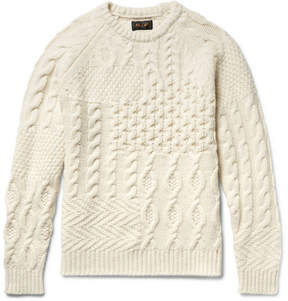 Beams Slim-Fit Textured Wool-Blend Sweater