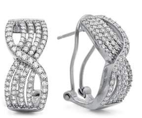 Crislu Twisted CZ Pave Earrings