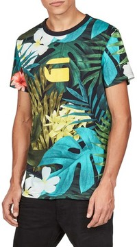 G Star Men's Aloha Print Graphic T-Shirt