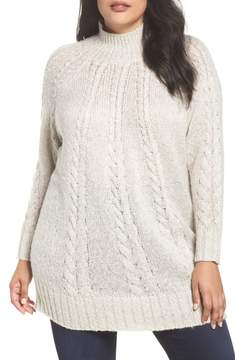 Caslon Cable Knit Tunic Sweater