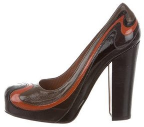 Moschino Wave Colorblock Pumps