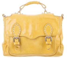 Rebecca Minkoff Distressed Leather Bag - YELLOW - STYLE
