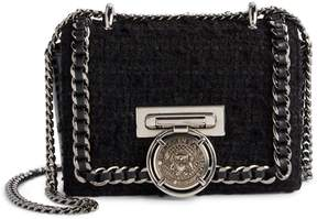 Balmain Baby Box Tweed Shoulder Bag