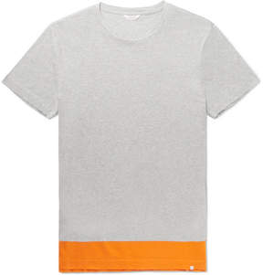 Orlebar Brown Sammy Colour-Block Mélange Cotton-Jersey T-Shirt