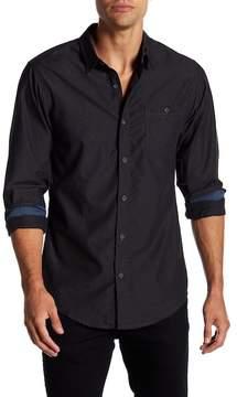 Burnside Diamond Print Long Sleeve Regular Fit Shirt