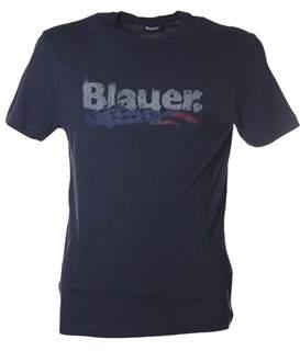 Blauer Men's Blue Cotton T-shirt.