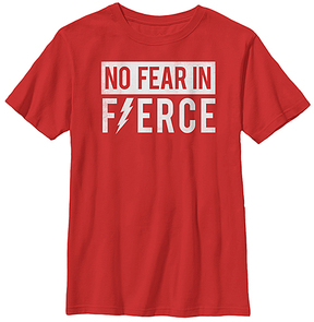 Fifth Sun Red 'No Fear in Fierce' Crewneck Tee - Youth