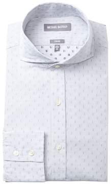 Michael Bastian Graphic Dobby Trim Fit Dress Shirt