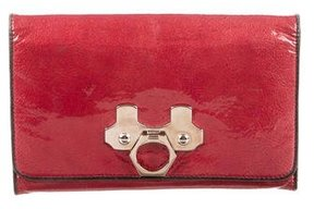 Zac Posen Embellished Patent Leather Wallet