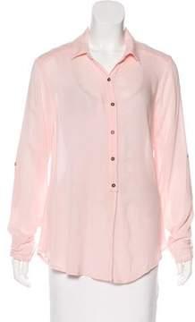 Ella Moss Long Sleeve Semi-Sheer Top