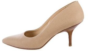 Walter Steiger Canvas Pointed-Toe Pumps