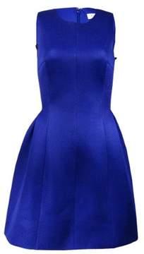 Calvin Klein Women's Mesh Sleeveless A-Line Dress (4, Atlantic)