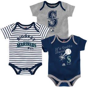 Majestic Seattle Mariners Homerun 3-Piece Set, Baby Boy (12-18 months)