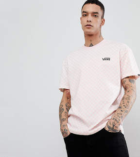 Vans Oversized Checkerboard T-Shirt In Pink Exclusive To ASOS