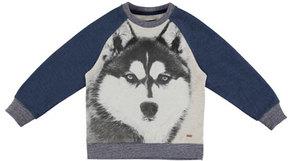 Mayoral Wolf Pullover Sweatshirt, Blue, Size 3-7