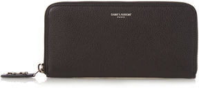 Saint Laurent Grained-leather continental wallet - BLACK - STYLE