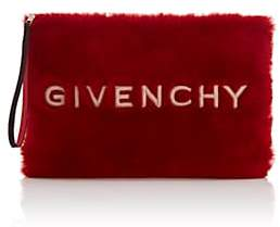 Givenchy Women's GV3 Large Faux-Shearling Pouch-Md. Red