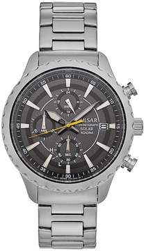 Pulsar Men's Easy Style Stainless Steel Solar Chronograph Watch - PZ6011