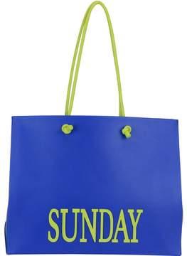 Alberta Ferretti Rainbow Week Fluo Shopping Bag