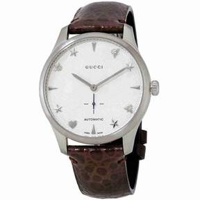 Gucci G-Timeless Automatic Silver Dial Men's Watch YA126334