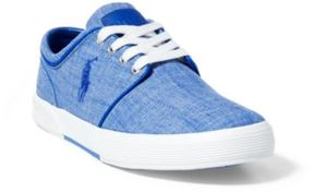 Ralph Lauren Faxon Chambray Low-Top Sneaker Faded Blue 15