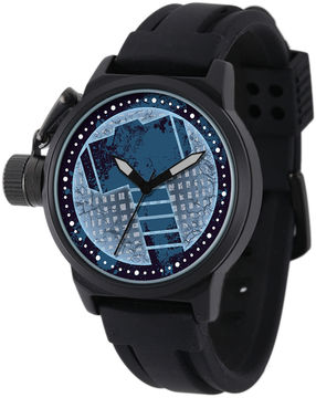 Marvel Thor Mens Black Silicone Strap Crown Protector Watch