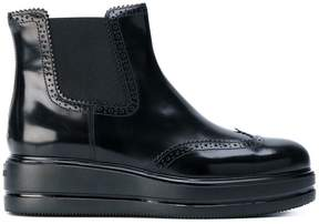 Hogan wedged ankle boots