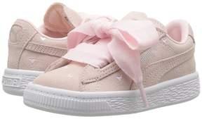 Puma Kids Suede Heart Valentine Girls Shoes