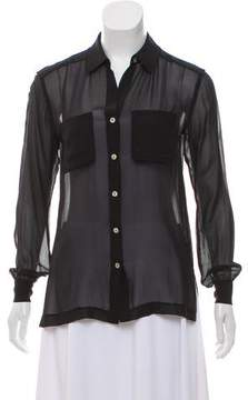 Brochu Walker Sheer Button-Up Top