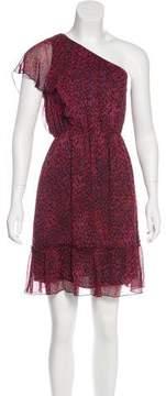 Anna Sui Silk One-Shoulder Dress