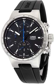 Oris Williams Chronograph Automatic Black Dial Black Rubber Men's Watch
