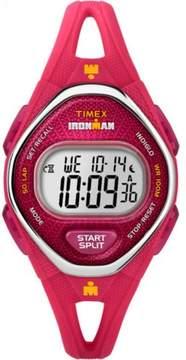 Timex Women's Ironman Sleek 50 Pink Watch, Silicone Strap