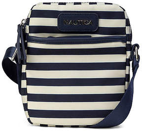 Nautica North & South Crossbody - Natural & Navy Stripe