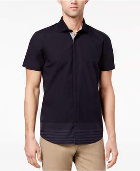 Ryan Seacrest Distinction Men's Slim-Fit Navy Stripe Sport Shirt, Created for Macy's
