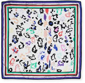 Roberto Cavalli Paint Splatter Silk Scarf