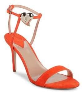 Aperlaï Palma Heart Suede Stiletto Sandals