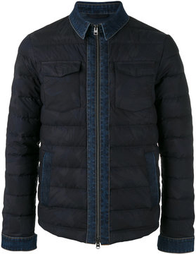 Etro denim detail down jacket
