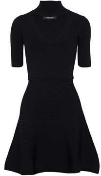 Cushnie et Ochs Cutout Ribbed-Knit Mini Dress