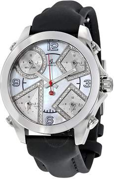 Jacob & co Jacob and Co. Five Time Zone Mother of Pearl Diamond Men's Watch