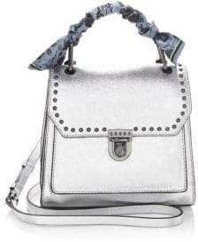 Rebecca Minkoff St Tropez Small Leather Satchel - SILVER - STYLE