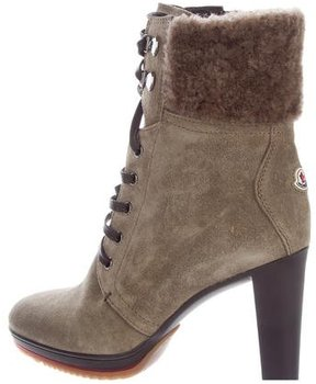 Moncler Suede Lace-Up Boots w/ Tags