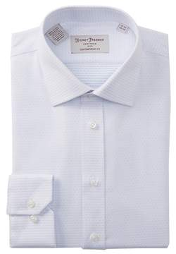 Hickey Freeman Dot Print Contemporary Fit Dress Shirt