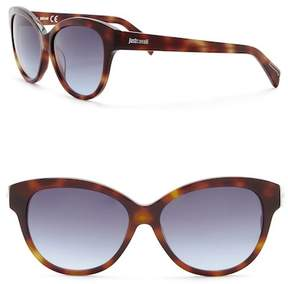 Just Cavalli Modified Cat Eye 57mm Plastic Sunglasses