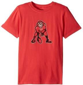 Life is Good Hut Hut Hike Football Crusher Tee Boy's T Shirt