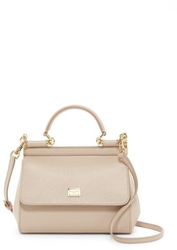Dolce & Gabbana Small Sicily Leather Tote