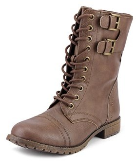 Rampage Jexmela Round Toe Leather Ankle Boot.