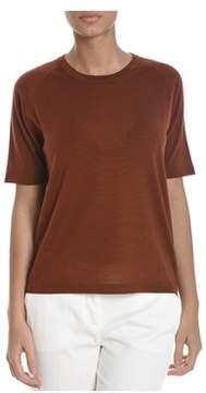 Altea Women's Brown Wool T-shirt.