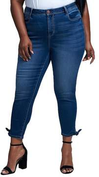 Seven7 Tie Leg Skinny Jeans (Plus Size)